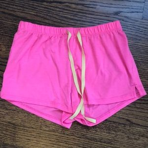 bright pink justice pj shorts (girls)
